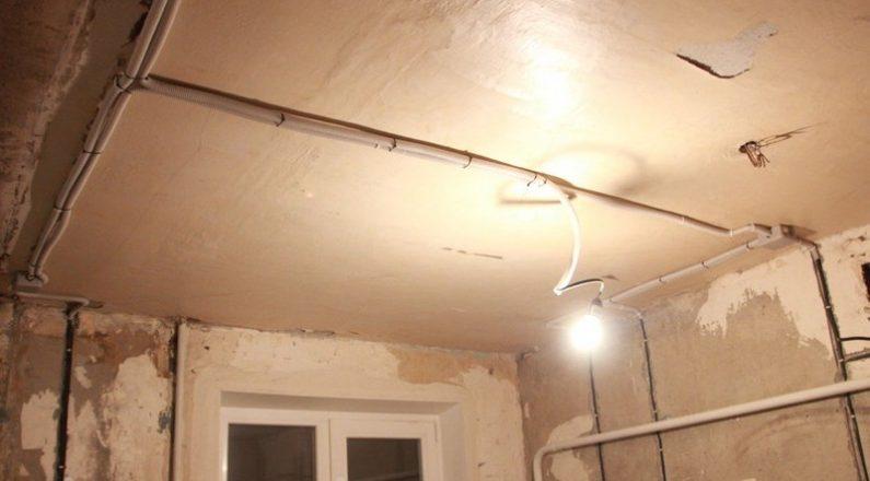 Монтаж проводки освещения в квартире