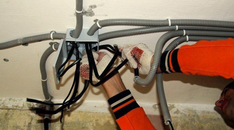 Электромонтаж электропроводки в доме