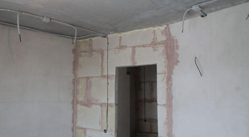 Разводка проводки в комнате