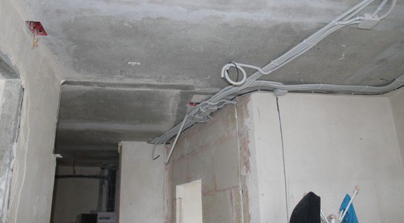 Проводка в квартире и вывод для светильников