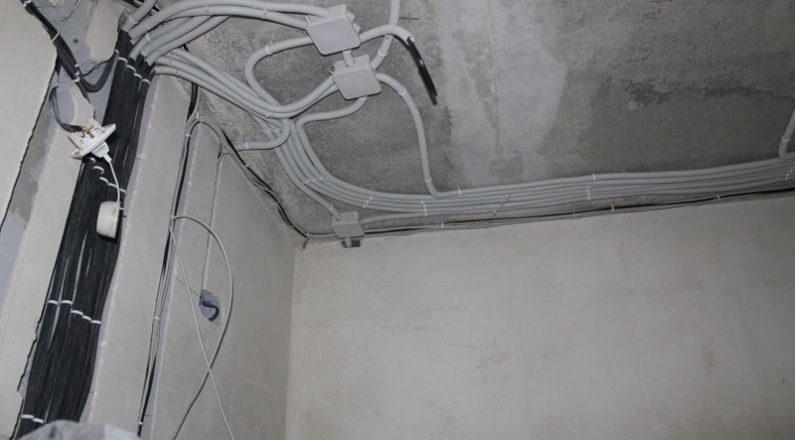 Подведение линий к электрощиту
